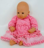 PINK SPOTTY DOLLS PARTY OUTFIT FOR 18-20INCH[45-50 CM]DOLLS AND BEARS